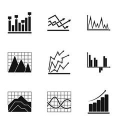 project graph icons set simple style vector image