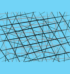Random chaotic lines scattered lines line vector
