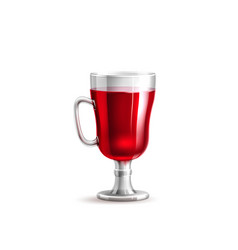realistic 3d mulled wine glass isolated vector image