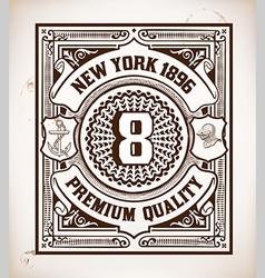 Retro stamp design vector