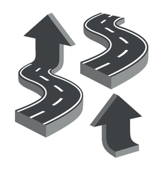 Roads and arrows vector image
