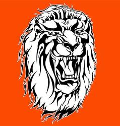 roaring lion tattoo vector image