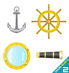 Sailing objects vector