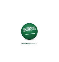Saudi arabia round flag vector