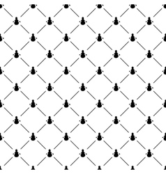 Seamless simple pattern with snowman vector