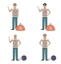 set thieves vector image