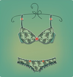 Sexy Lingerie vintage corset on white background vector