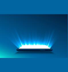 smartphone light screen technology mobile display vector image