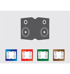 Speakers icons vector