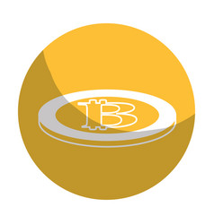 Sticker digital bitcoin currency and electronic vector