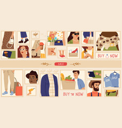 store banner online shopping fashion sale vector image