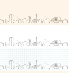tirana hand drawn skyline vector image