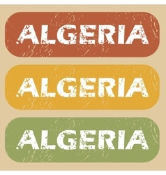 Vintage Algeria stamp set vector
