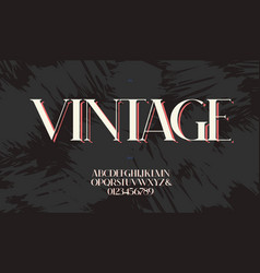 vintage font premium style vector image