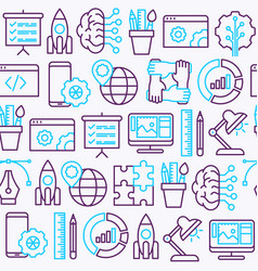 Web development seamless pattern vector