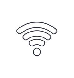 wi-fi signal thin line icon linear symbol vector image