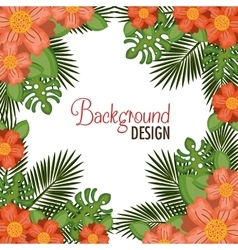 wreath floral decorative background vector image