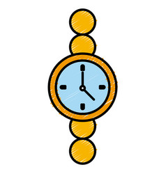 wristwatch clock isolated vector image