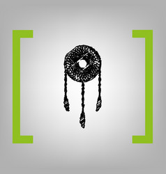 dream catcher sign black scribble icon in vector image