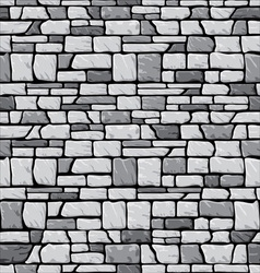 Grey stone wall vector