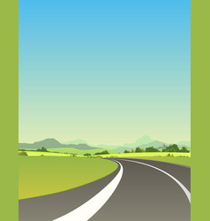 on the road to summer vector image vector image