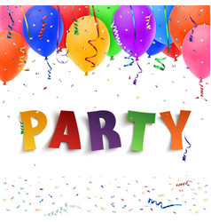 Party Colorful handmade typeface vector image