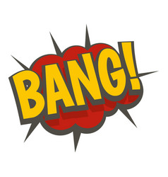 Bang comic book explosion icon isolated vector
