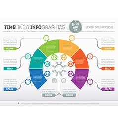 Business concept of infographic with six options vector image vector image