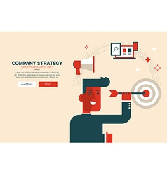 Company strategy concept vector image