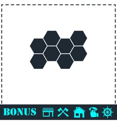 Honeycomb icon flat vector image vector image