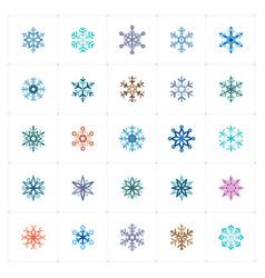 mini icon set - snowflake icon vector image