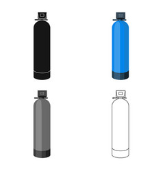water filter machine icon in cartoon style vector image vector image