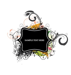 colorful grunge label vector image vector image