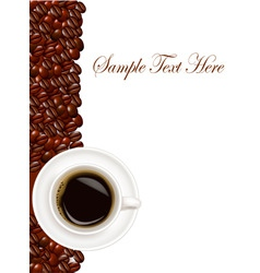 design with cup of coffee vector image