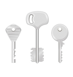 Door keys isolated on white background vector image vector image