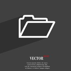 Folder icon symbol Flat modern web design with vector image