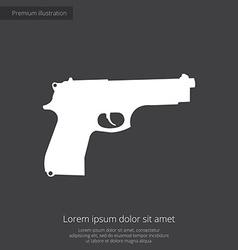 gun premium icon white on dark background vector image