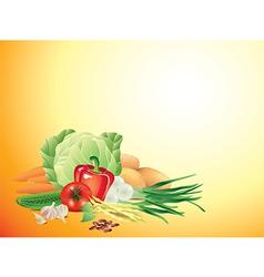 vegetables horizontal background vector image vector image