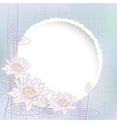 Water Lily Flowers vector image vector image