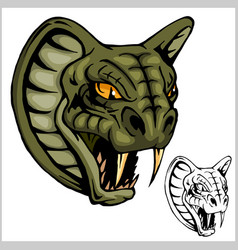 cobra head mascot - vector image