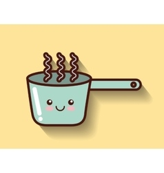 cooking pot icon design vector image