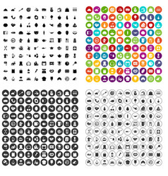 100 cooking icons set variant vector image