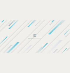 abstract blue stripe diagonal pattern on white vector image