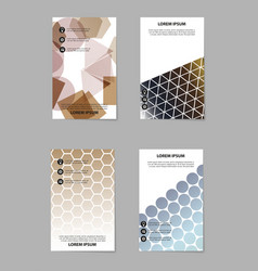 Abstract brochure compositions in business style vector