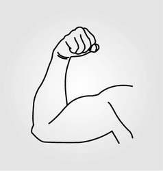 Abstract drawing of a mans arm flex vector