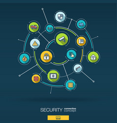 abstract security access control background vector image