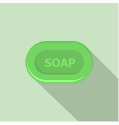 Aloe soap icon flat style vector