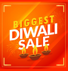 Amazing biggest diwali sale discount promotional vector