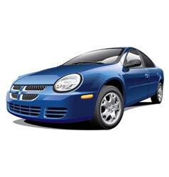American four door sedan vector