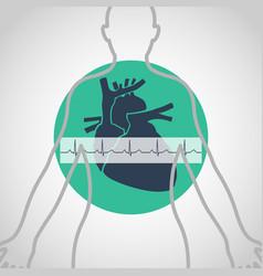 An electrocardiogram logo icon design vector